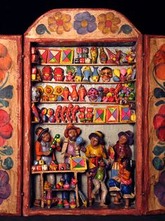 peruvian art | Indigo Arts Gallery | Peruvian Folk Art | Retablos