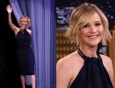blonde lob Jennifer Lawrence Box of Lies