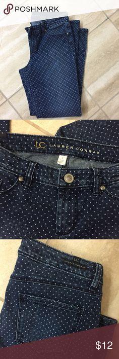 Lauren Conrad polka dot jeans Pre owned in good condition LC Lauren Conrad Pants Skinny