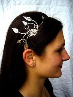 vine and leaves headband