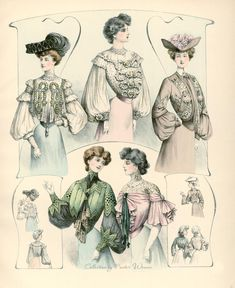 Elegant Ladies ... in the pages of a fashion magazine, 1903 .. Discussion on LiveInternet - Russian Service Online Diaries