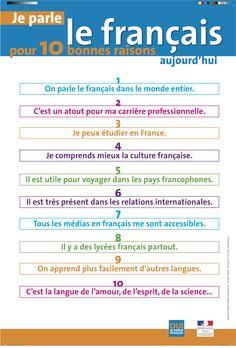 Je parle le #français pour 10 bonnes raisons.
