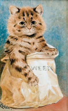 Puss in Sweets |  Louis Wain