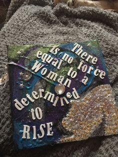 Graduation cap design feminist quote