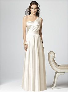 One shoulder Ivory #Wedding Dress :: look like a #Greek #goddess