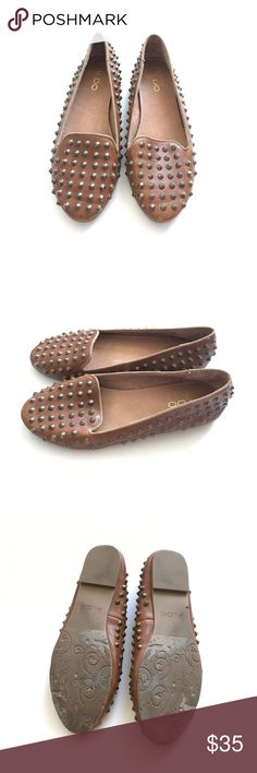 Aldo Studded Flats Brown Aldo studded flats! Super cute and basically new. Only worn a few times. Aldo Shoes Flats & Loafers