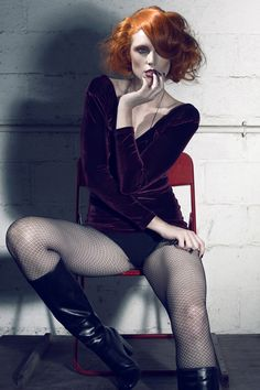 Jena Dover with short red hair