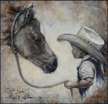 Original artwork, pencil drawings, western, wildlife, & Americana paintings by western artist Virgil C. Horse Drawings, Pencil Drawings, Art Drawings, Pencil Art, Little Cowboy, Cowboy Baby, Camo Baby, Creation Photo, Cowboy Horse