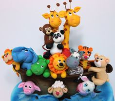 viorica's cakes: Tort botez Arca lui Noah