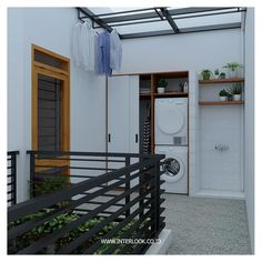 Home design for small space Outdoor Laundry Rooms, Modern Laundry Rooms, Laundry In Bathroom, Laundry Area, Laundry Room Design, Home Room Design, Home Interior Design, House Design, Laundry Room Inspiration