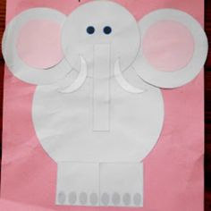 25 Cute Elephant Crafts for Kindergarteners – Page 17 – Play Ideas Zoo Crafts, Animal Crafts, Cute Crafts, Crafts For Kids, Preschool Elephant Crafts, Safari Crafts, Preschool Jungle, Preschool Activities, Preschool Shapes