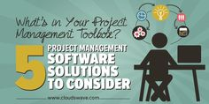 What's in Your Project Management Toolbox? 5 Project Management Software Solutions to Consider Software Project Management, Software Projects, Business Software, Business Tips, Toolbox, Growing Your Business, Entrepreneurship, Tool Box
