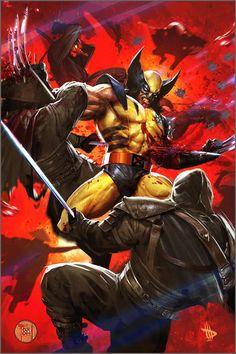 Wolverine ( X-Men ) // Marvel // Art Marvel Comic Character, Comic Book Characters, Marvel Characters, Comic Books Art, Comic Art, Book Art, Superman, Batman, Wolverine Art