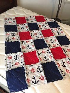 Boys nautical rag quilt!⚓️ More
