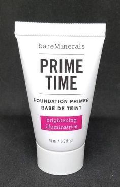 bareMinerals Prime Time Brightening Foundation Primer Travel Sample Size 0.5oz  #BareEscentuals