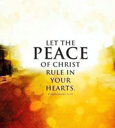 Only #JESUS Can Give Us #PEACE in this World. Col3:15 pic.twitter.com/0PYiH6wQo9
