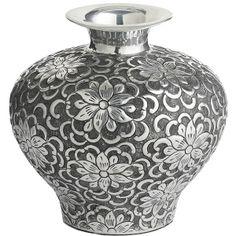 """Aluminum Scroll Vase 14.5"""" ($120) ❤ liked on Polyvore"""