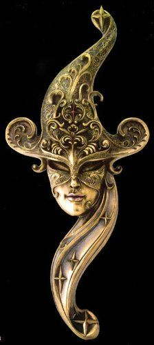 Large Venice Carnival Mask Venetian Style Masquerade - Wall Decor Magnificent!