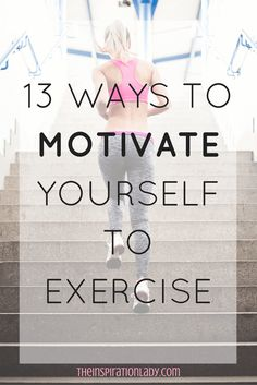 A lot of people have trouble getting motivated to exercise. And that's one of the hardest things to overcome on the road to getting in shape. Here are some ways you can find motivation to work out and reach your fitness goals!