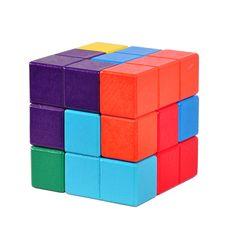 成人儿童木制益智玩具孔明锁孔明球鲁班锁方锁 立方体索玛立方体-淘宝网