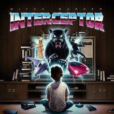 If you like instrumentals by John Carpenter or Jan Hammer, you'll like Mitch Murder's new album Interceptor. New Retro Wave, Retro Waves, New Wave, Lago Michigan, Promo Flyer, 80s Neon, Music Album Covers, Retro Futuristic, Retro Design