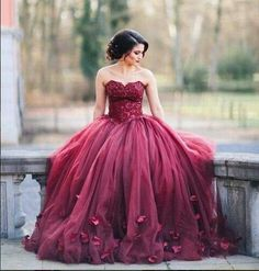 Imagem de dress, red, and gown