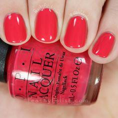 Here are the 10 most popular nail polish colors at OPI - My Nails Matte Pink Nails, Opi Nails, Opi Red Nail Polish, Spring Nails, Summer Nails, Spring Nail Colors, Summer Colors, Cute Nails, Pretty Nails