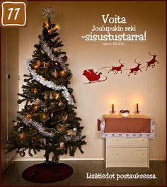 Voita jouluinen sisustustarra! #sisustustarra #sisustus #tarra #joulu #decal #seinätarra #arvonta