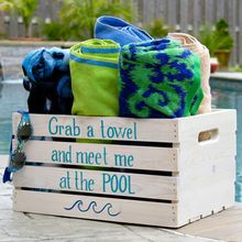 Having a pool sounds awesome especially if you are working with the best backyard pool landscaping ideas there is. How you design a proper backyard with a pool matters. Pool Towel Storage, Pool Towels, Piscina Diy, Pool Organization, Organizing, Pool House Decor, Backyard Pool Landscaping, Landscaping Ideas, Backyard Ideas