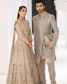 Asian Wedding Dress Pakistani, Asian Bridal Dresses, Pakistani Dress Design, Pakistani Outfits, Indian Dresses, Couple Wedding Dress, Desi Wedding Dresses, Indian Wedding Outfits, Bridal Outfits