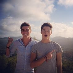 Jack and Finn Harries - the most attractive twins on YouTube and did I mention they're British...