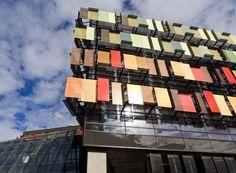 Anodized aluminium, sun shade, Bendigo Bank