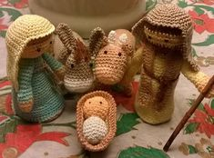 Crafty Lady Leah's by craftyladyleah Crochet Pig, Love Crochet, Crochet Crafts, Crochet Dolls, Crochet Projects, Christmas Nativity, Christmas Items, Christmas Angels, Christmas Ornaments