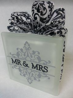 Hey, I found this really awesome Etsy listing at https://www.etsy.com/listing/214609922/beautiful-frosted-mr-mrs-glass-block