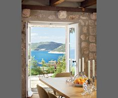 """House on Cadaqués, Catalan coast, off the coast of Dalmatia, restored by Steven Harris and Lucien Rees Roberts, in """"Architectural Digest."""""""