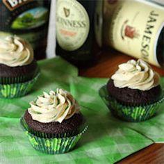 Irish Whiskey Stout Cupcakes