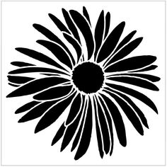 Items similar to Flower Stencil, Detailed flower, Flower Furniture Stencil, Flower pillow stencil on Etsy Silhouette Cameo, Silhouette Projects, Silhouette Design, Flower Silhouette, Stencil Patterns, Stencil Art, Stencil Designs, Flower Stencils, Fairy Stencil