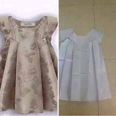 Kids dress with front darts 😍😍 patterm Order by line : (with modellistepattern pola - modellistepattern - AmigurumiHouse Baby Frock Pattern, Frock Patterns, Kids Dress Patterns, Little Girl Dresses, Girls Dresses, Dress Anak, Baby Frocks Designs, Frock Design, Kids Outfits