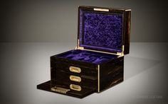 Antique Jewellery Box in Coromandel with Two Concealed Drawers, by John Farthing