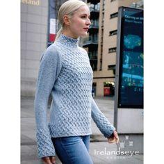 Irelands Eye Trellis Sweater - Sky
