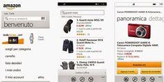 AMAZON DOWNLOAD APPLICAZIONE UFFICIALE PER SMARTPHONE WINDOWS PHONE IN ITALIANO
