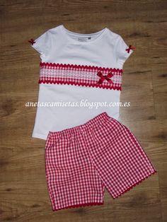 Aneta´s Camisetas: Camisetas de niña. Girl Dress Patterns, Clothing Patterns, Sewing For Kids, Baby Sewing, Little Girl Dresses, Girls Dresses, Baby Dress, Toddler Girl, Doll Clothes