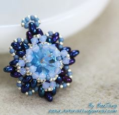 Blue Iris Pendant