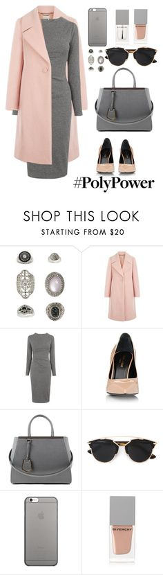 """ym"" by skatery ❤ liked on Polyvore featuring Topshop, Hobbs, Whistles, Yves Saint Laurent, Fendi, Christian Dior, Native Union, Givenchy and PolyPower"