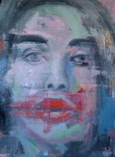 """Saatchi Art Artist Dejan Bozinovski; Painting, """"Carmine Portrait"""" #art"""