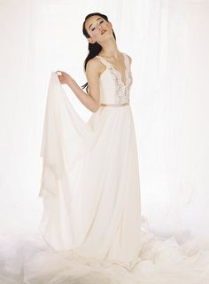 Pleated Chiffon Grecian Style Wedding Dress Urban Bride Cape Town