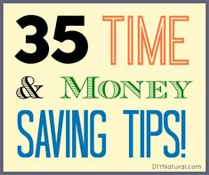 DIY Natural 35 time and money saving tips are helpful and fun to know. Did you know neem oil deters mosquitoes? How about diatomaceous earth for keeping away pests? Ways To Save Money, Money Tips, Money Saving Tips, Organization Skills, Budgeting Finances, Budgeting Tips, Financial Tips, Saving Ideas, Simple Living
