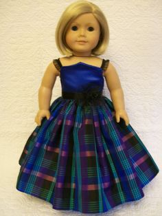 Plaid Taffeta Party Dress by OntheTownDesigns on Etsy, $30.00