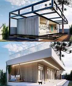 """CONTAINER HOMES DAILY on Instagram: """"Click [Link In Our Bio] To Get Access To 650+ Container Home Plans included in our E-book✅ @containerhomesdaily  - - Container Home E-book…"""" Container Architecture, Architecture Design, Future House, My House, Shipping Container Home Designs, Shipping Containers, Casas Containers, Building A Container Home, Tiny House Design"""