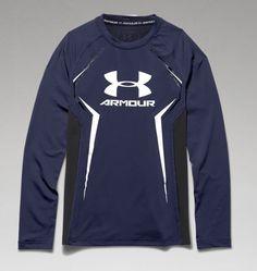 Boys' UA HeatGear® Armour Up Long Sleeve Fitted Shirt